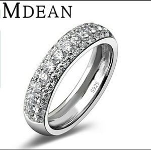 Jewelry - MDEAN White Gold Filled Wedding Band
