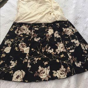 A line skirt in a pretty print