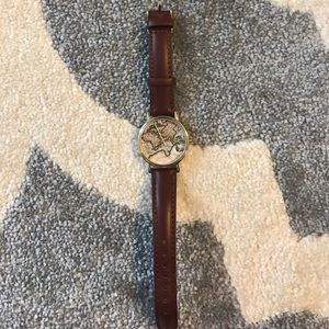 Urban Outfitters Genuine Leather Map Watch
