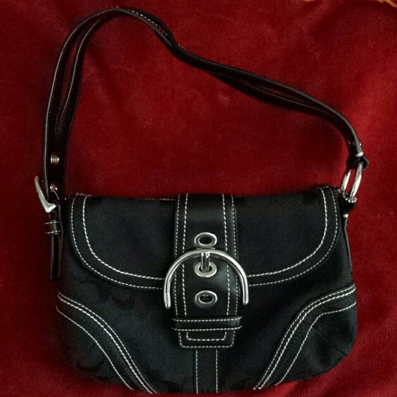 40f6be758d13 Coach Handbags - Coach black leather buckle hobo purse