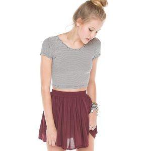 Brandy Melville Dresses & Skirts - Brandy Melville Burgundy Luma Skirt