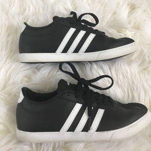 Adidas Neo Courtset Stripe Sneaker in Black 7.5