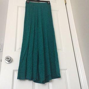 Green wide leg/palazzo pants