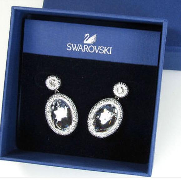 b9bcf5096 Swarovski Jewelry | Vita Oval Crystal Earrings | Poshmark