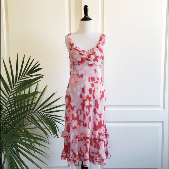 e0b7d45b6a001 Anthropologie Dresses & Skirts - Anthropologie Deletta Ruffle Silk Dress
