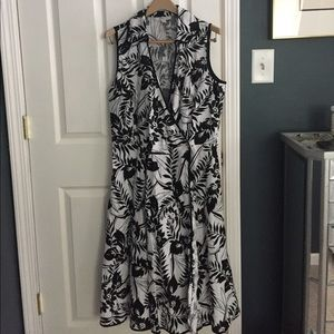 Gorgeous linen wrap dress