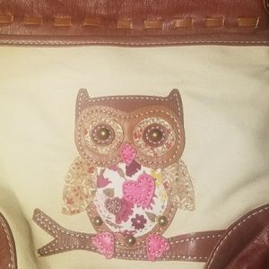 Owl Satchel Cross-Body Purse