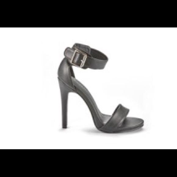 Black one strap heels c6a8b56e97e4