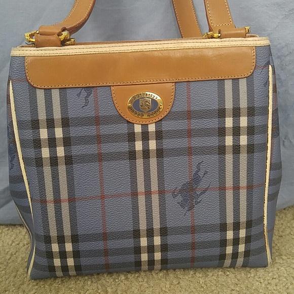 bb603e67b15 Burberry Handbags - 💯% Authentic Burberry' Vintage blue shoulder bag