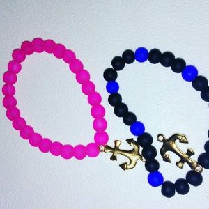 Jewelry - Bracelets with gold anchor charm