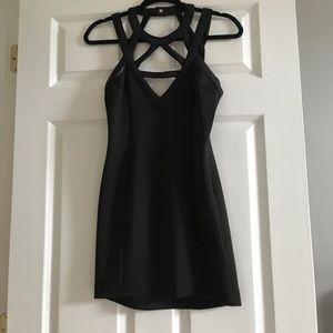 Black mini dress size small