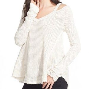 Free People Cold Shoulder Sweater -S