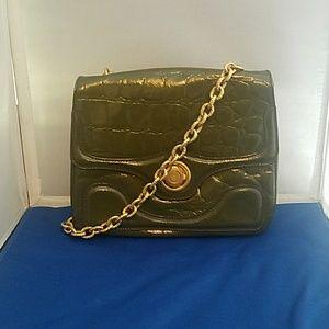 Alexander McQueen Handbags - ALEXANDER MCQUEEN GREEN CROCODILE SHOULDER BAG