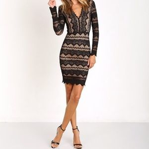 Nightcap Sierra Lace Deep V Dress!