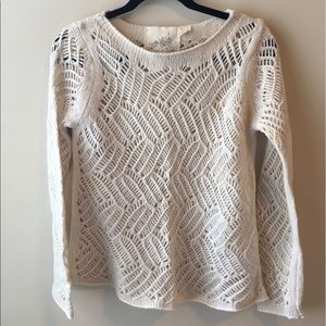 Angel Of The North Sweaters - Woven Cream Sweater from Anthropologie