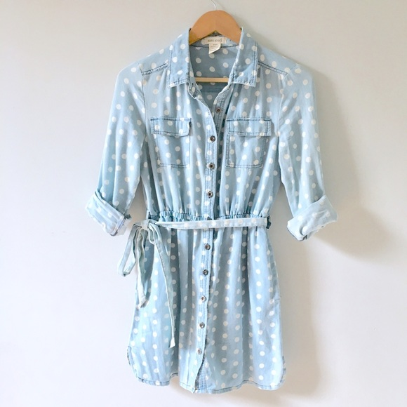 Anthropologie Dresses - Chambray Shirt Dress