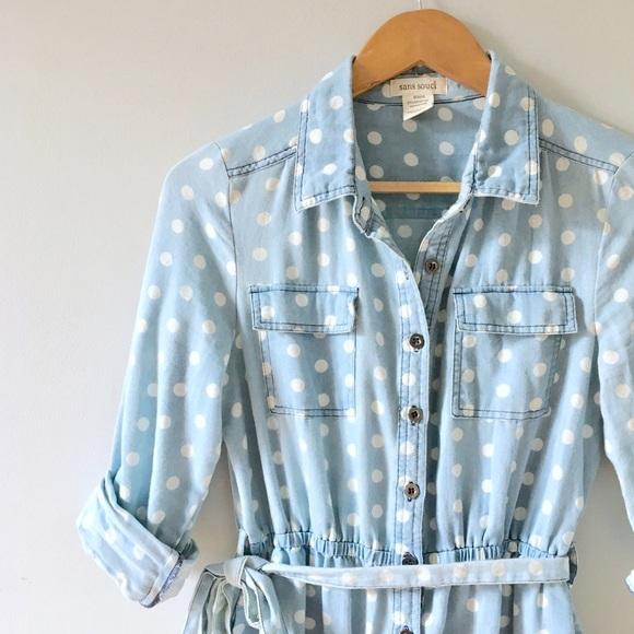 Anthropologie Dresses - Chambray Shirt Dress