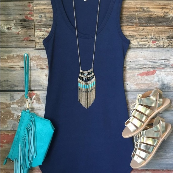 Anthropologie Dresses - 🔆 SALE Navy Night Dress