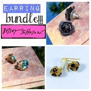 Bundle Betsey Johnson Earrings! Versatile bunch!