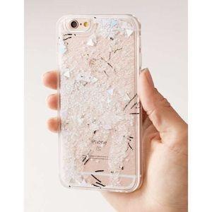🎉 HP ♥️⬇️ UO Snowstorm Glitter iPhone 6/6s Case