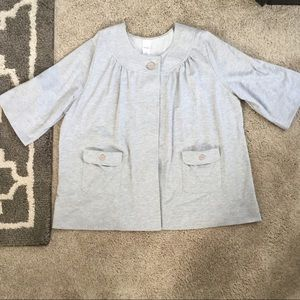 Grey Fleece Smock Jacket