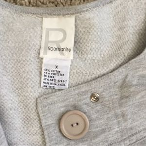 Roamans Jackets & Coats - Grey Fleece Smock Jacket