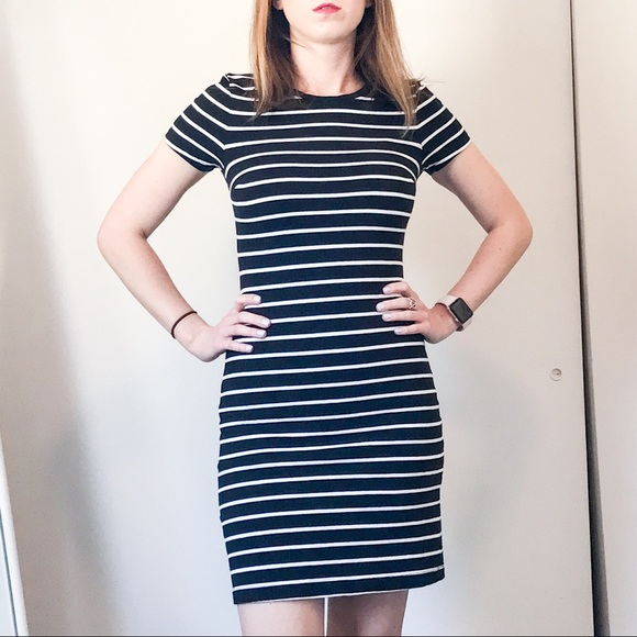 60 off old navy dresses skirts black and white for Navy striped dress shirt