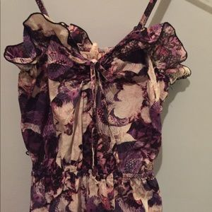 Purple floral dress size small