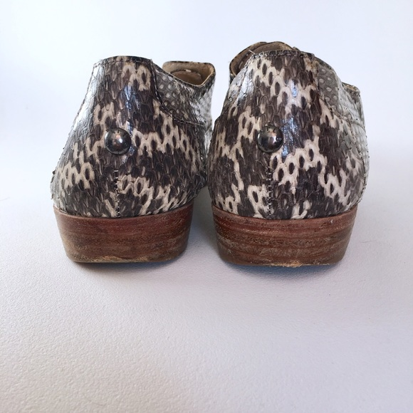 Shoes - Snakeskin Slip Ons