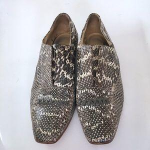 Shoes - Snakeskin Slip Ons