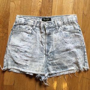 Brandy Melville Pants - John Galt Brandy Melville Striped Cut Off Shorts