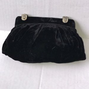 Handbags - Vintage velvet hand held in the back clutch