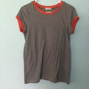 Ardene Tops - Red and blue and white striped shirt