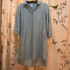Alya Dresses & Skirts - Alya Tencel Pinstripe Dress sz S