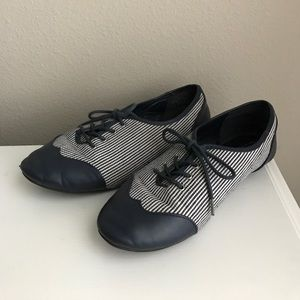 Aphorism Shoes - Striped Oxfords