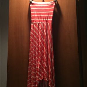 Body Central High low strapless dress size small
