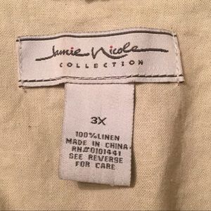Jamie Nicole Collection Jackets & Coats - Off-white Linen Shrug w/ Ruffle Detail