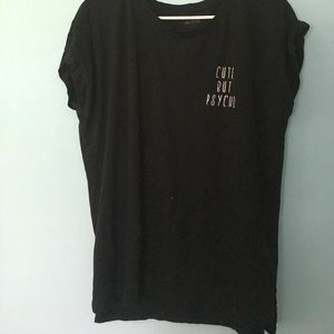 Ardene Tops - Black cute but psycho shirt