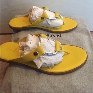 Hogan Shoes - Great Acid Yellow Sandals