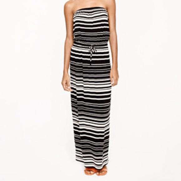 8b600581605 J. Crew Dresses   Skirts - J. Crew Aimee Strapless Maxi Dress with stripes