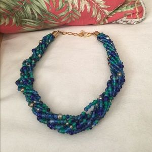 J. Crew Jewelry - REDUCEDx2 Vintage turquoise&blue&green glass&metal