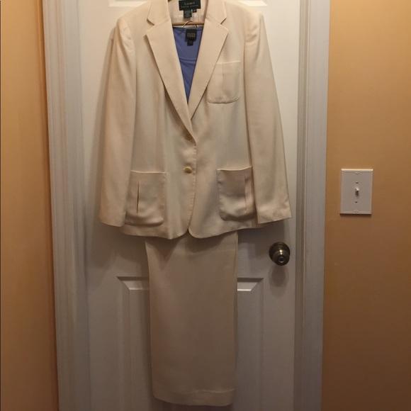 Ralph Lauren Jackets Coats Cream Colored Womens Pants Suit