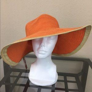 Merona Accessories - NWT merona orange floppy wide brim sun hat
