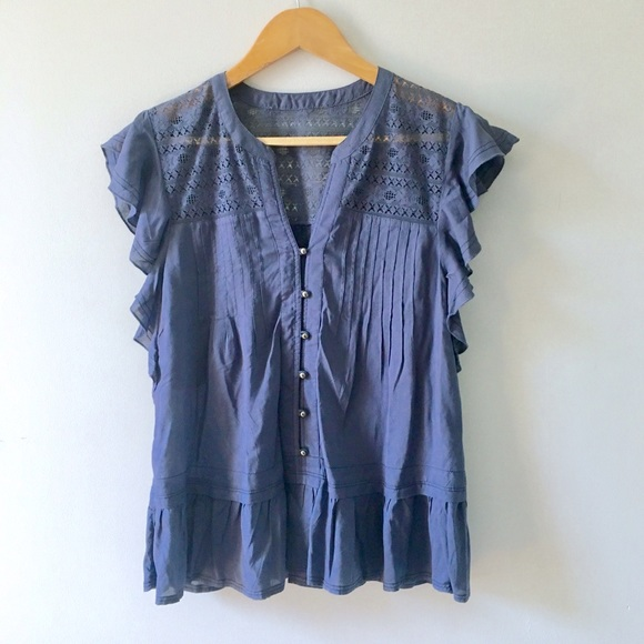 Anthropologie Tops - Lace & Ruffe Top