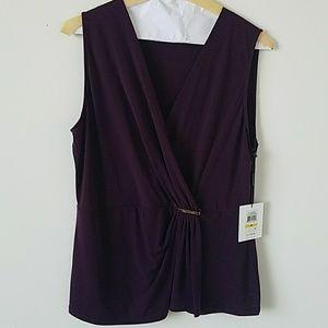 Purple Calvin Klein Blouse
