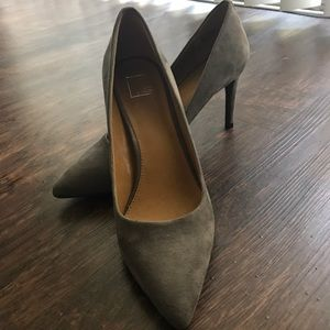Saks Fifth Avenue Shoes - Suede grey heels