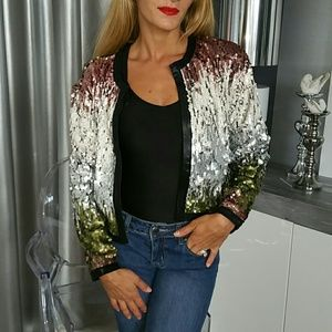 Jackets & Blazers - SASSY SEQUIN JACKET