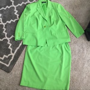 Vibrant Green Skirt Suit