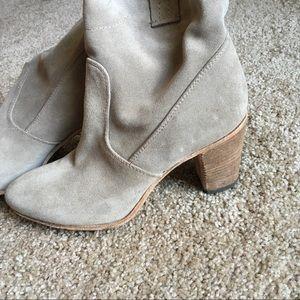 Alberto Fermani Shoes - Alberto Fermani Italian Suede Cowboy Booties