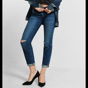 Express Denim - Express distressed Jeans 6R super skinny Mid rise